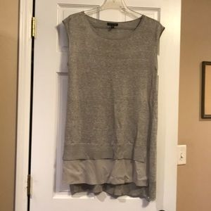 Eileen Fisher Sleeveless Grey Knit Top